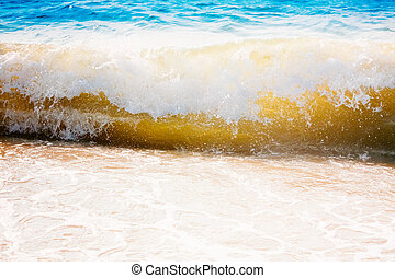 Sea Ocean Waves, Abstract Splash Vacation Background