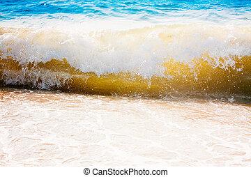 Sea Ocean Waves, Abstract Splash Vacation Background