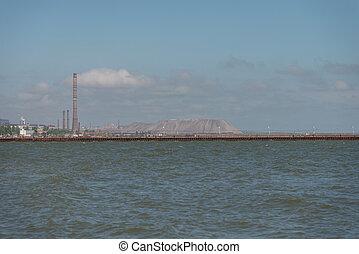 Sea of Azov. Ukraine. Donetsk region. City Mariupol....