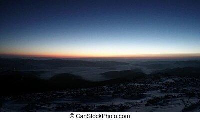 Sea of clouds at sunrise