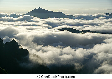 Sea of clouds in the Northern Alps