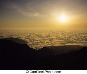 Sea of clouds of light