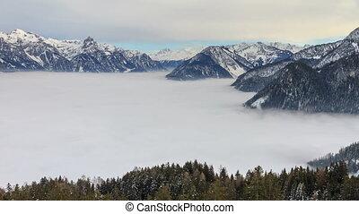 Sea of clouds Vorarlberg timelapse