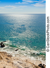 Sea of Cortez - High above the beautiful Sea of Cortez in...