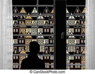 Sea of houses