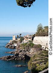 sea on the coast of Genoa