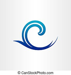 sea or ocean blue wave abstract icon cool wet background ...