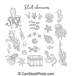 Sea outline elements