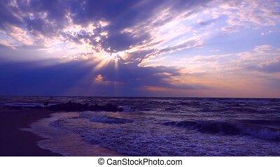 sea over the rising sun
