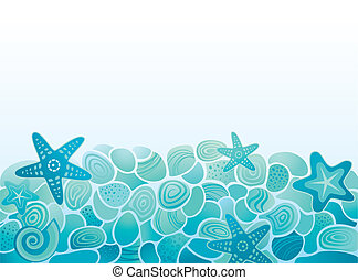 Sea pattern background with pebbles