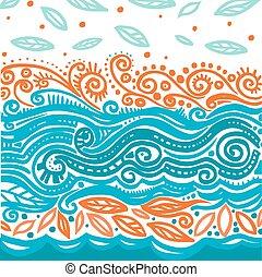 Sea pattern - Sea abstract pattern