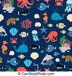 Sea pattern with fishes