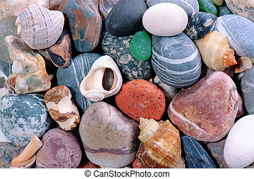 Sea pebble background