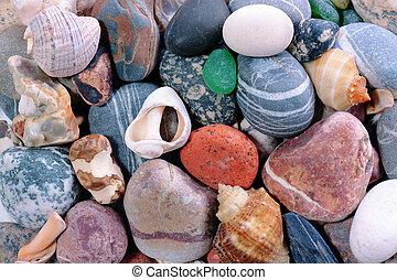 Sea pebble background