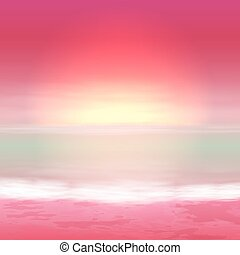 Sea perple sunset. Tropical background.