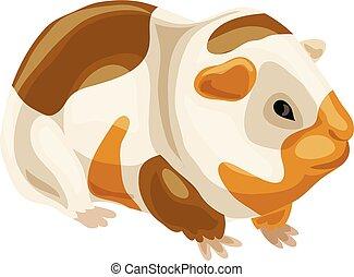 Sea pig icon, cartoon style