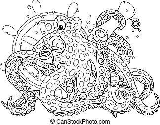 Sea pirate Octopus