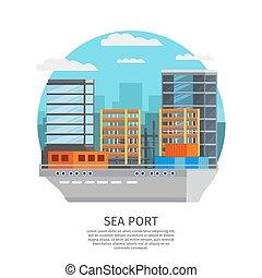 Sea Port Round Design