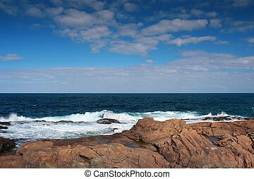 Sea, rock and sky