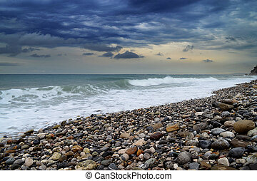 Sea, rocks and waves