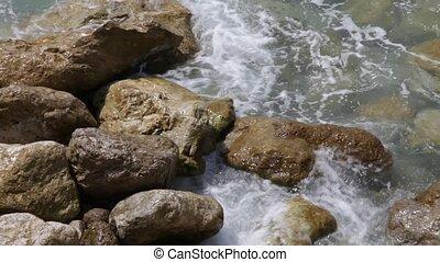 Sea rocks at the shore