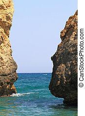 Sea rocks in Greece