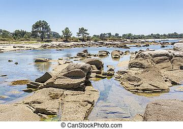 Sea rocks on the coast