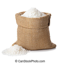 sea salt in burlap sack