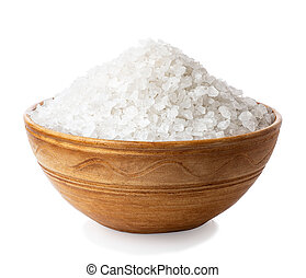 sea salt in ceramic bowl