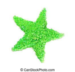 Sea salt laid in the form of a star