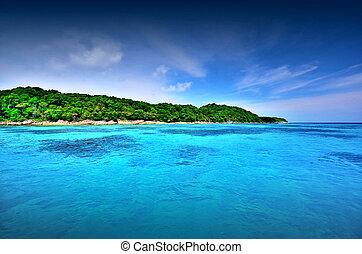 sea sand sun beach blue sky thailand landscape nature...