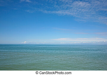 Sea scape - A tranquil view of the sea and sky with plenty ...