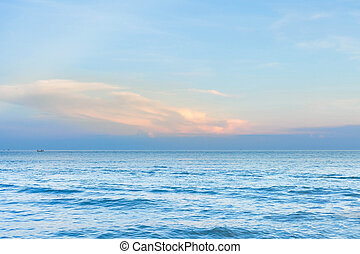 sea scape with a blue sky ,nature background.