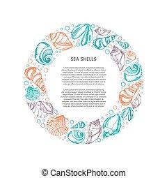 Sea shell circle