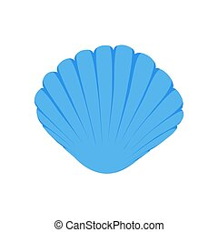 Sea shell for summer design elements. Trendy flat style for graphic design, web-site. Stock Vector illustration.