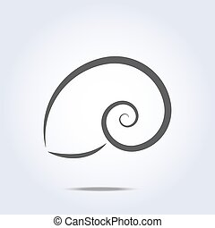 Sea shell icon silhouette ocean symbol