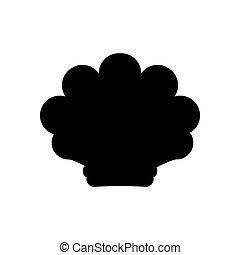 Sea shell illustration silhouette