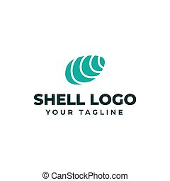 Sea Shell Oyster, Seafood, Restaurant Logo Design Template
