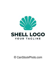 Sea Shell Pearl, Oyster, Seafood, Restaurant Logo Design Template