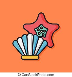 sea shell vector icon