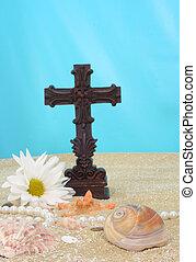 Sea Shell With Cross