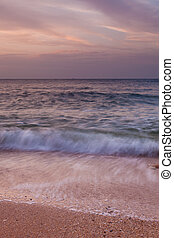 Sea shore at the evening