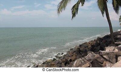 Indian sea shore in Kerala
