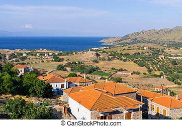 Sea shore on Lesbos Island - Greece