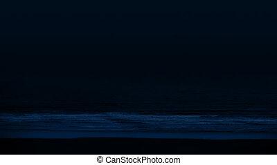 Sea Shore Waves In The Dark