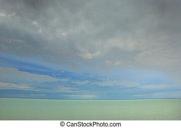 Sea, sky and horizon
