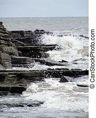 Sea Spray at Barry, South Wales