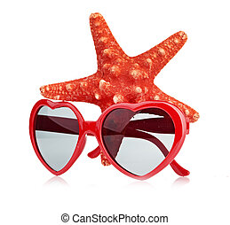 sea star and sungasses