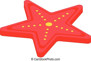 Sea star icon, isometric style