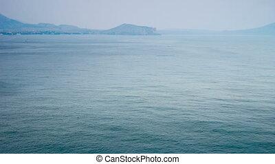Sea traffic time lapse. Crimea, Ukraine.